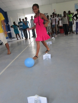 HIV prevention activities with GrassRoots Soccer